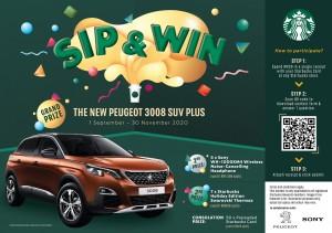 Starbucks_Sip & Win Contest_Peugeot 3008 SUV Plus