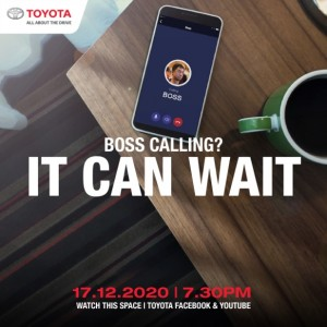 """Don't worry, we're sure he's tuning in too, everyone is. 17.12.2020, be there."" - UMW Toyota Motor"