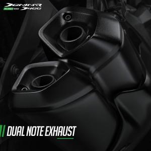 Modenas Dominar D400_Twin Barrel_Dual Note Exhaust