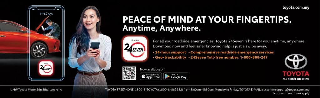 Toyota 24Seven Road Assist Mobile App